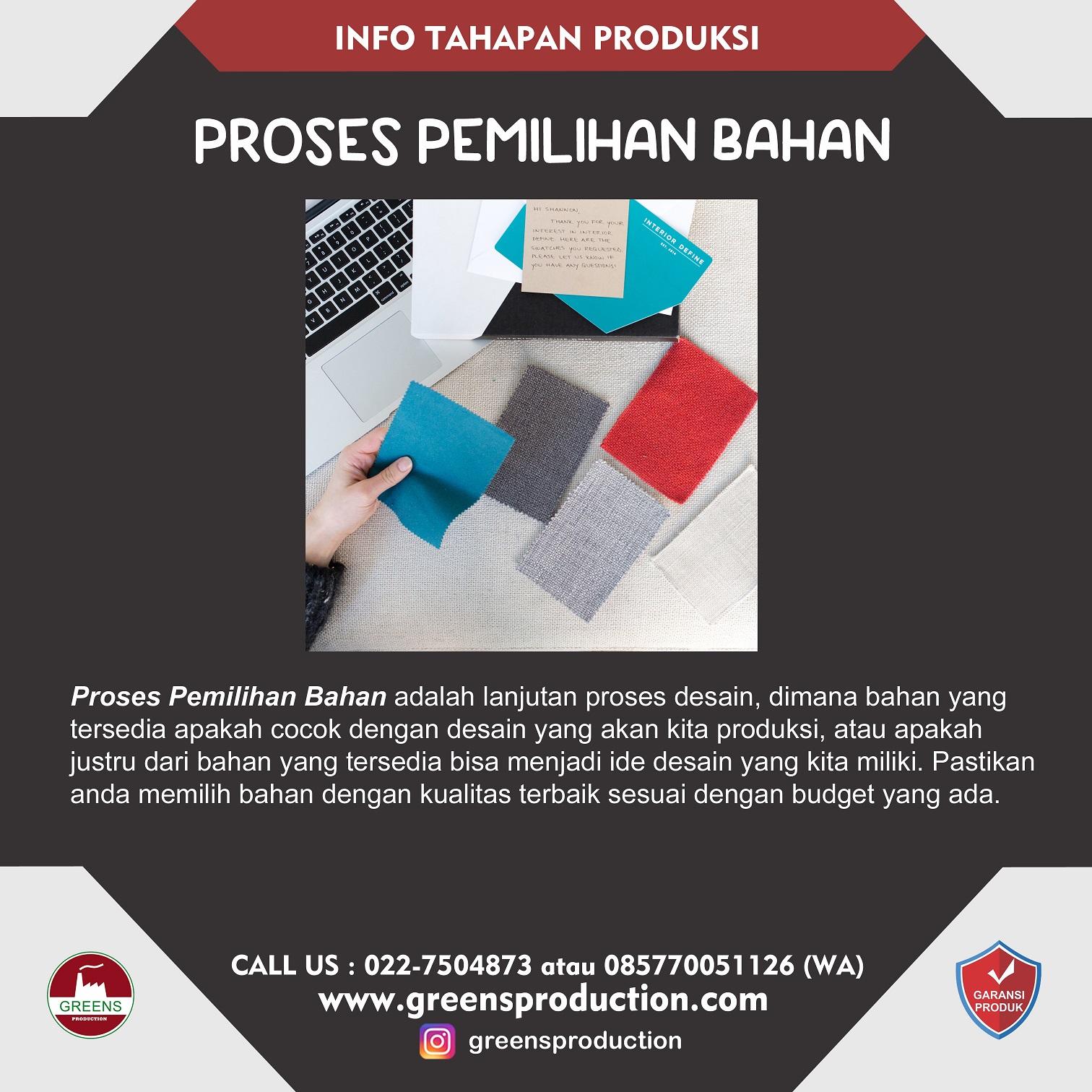 Tahapan-Pemilihan-Bahan-A1 Tahapan Produksi Baju greensproduction